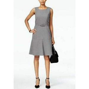 The Essential Belted Fit & Flare Dress